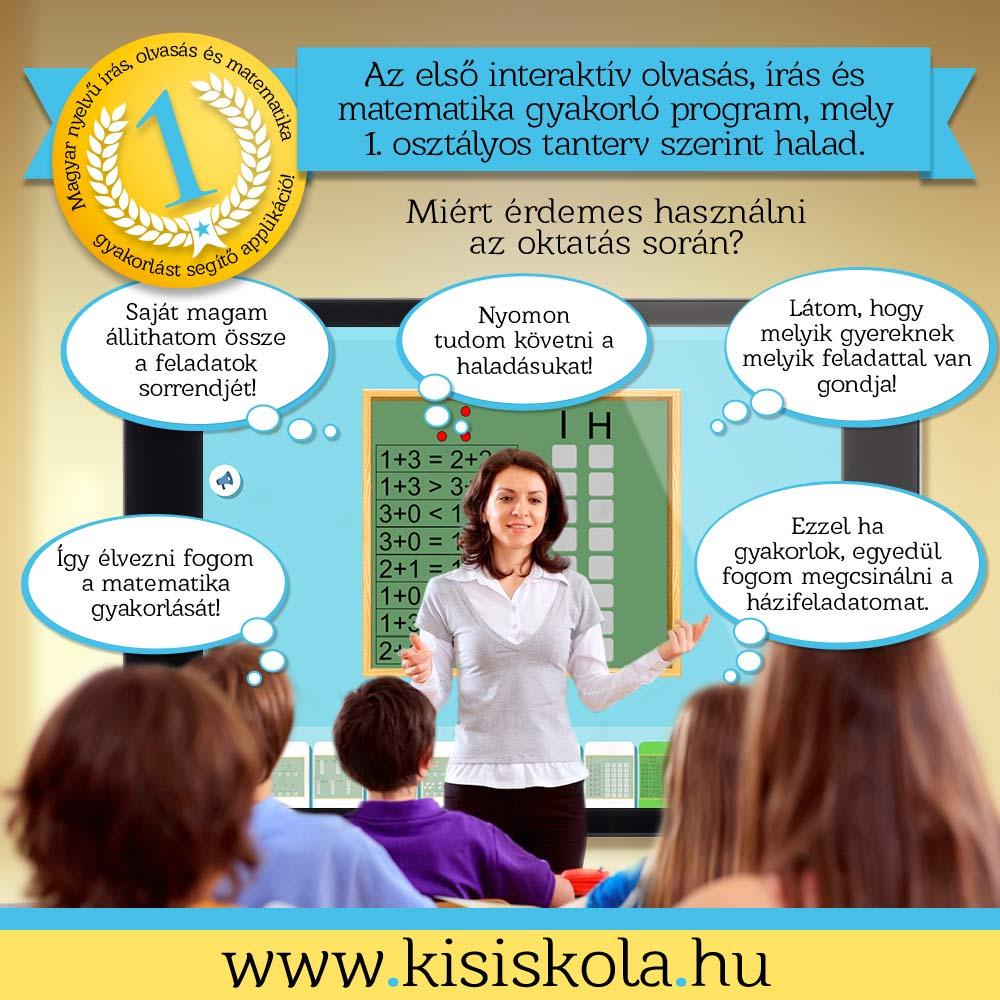 Interaktív írás, olvasás és matematika gyakorló program