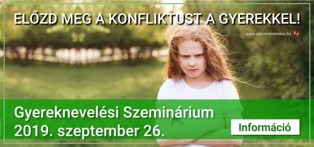 Gyereknevelési szeminárium 2019. szeptember 26.