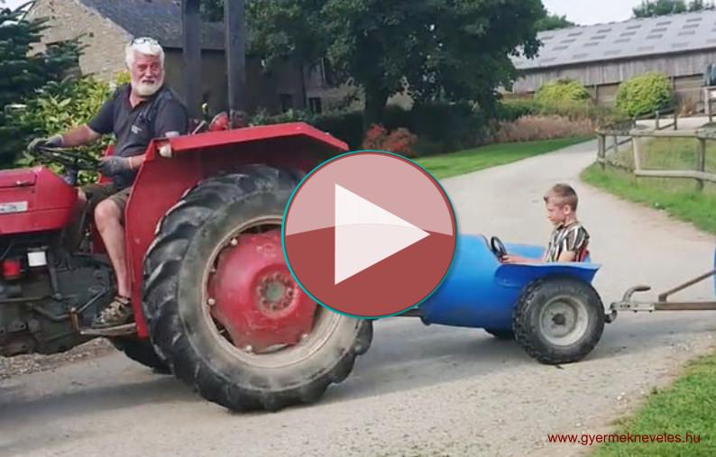Kreatív traktoros a gyermekekért